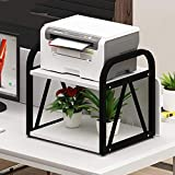 Soporte para impresora de escritorio Doble Capa multiuso de la impresora soporte de sobremesa estante del soporte de almacenamiento de escritorio for la impresora 3D Mini Soporte de madera para impres