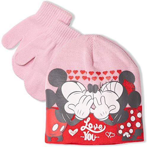Disney Minnie Mouse Ensemble hiver bébé fille Bonnet + Gants 0-2 ans - - 48 cm (aprox 0-12 mois)