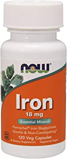 Now Supplements, Iron 18 mg, 120 Veg Capsules