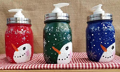 Let it Snow Snowman Soap Dispenser