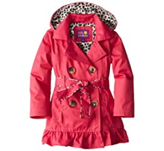 Youth Girls 4-5t Lepoatd Print Pink Coat