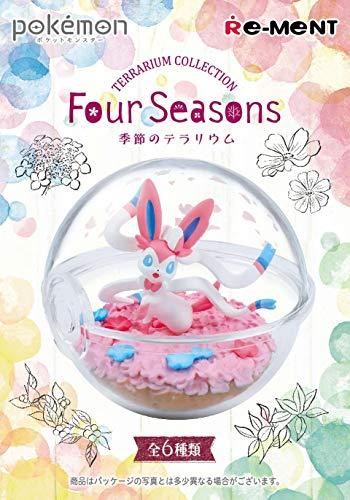 THIRD PARTY - Set De 6 Figurines Pokemon Pokeball Terrarium 4 Seasons - 4521121205175