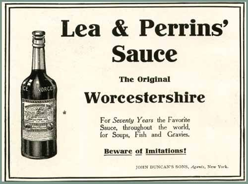 Super Early 1906 LEA & PERRINS' Worcestershire Sauce AD Original Paper Ephemera Authentic Vintage Print Magazine Ad/Article