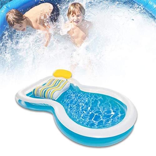 Sommer Kinder Wasserrutsche Schlauchboote für Kinder Hinterhof Wasserpark Kinderrutsche Spaß Rasen Wasserrutschen Pools für Kinder im Freien Aufblasbare Poolspielzeug für Outd