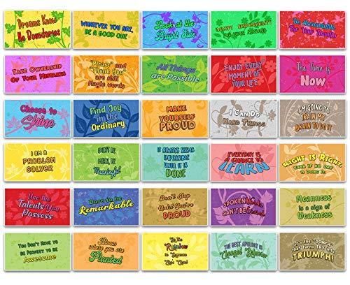 Creanoso Inspirerende machts gedachten Kaarten (60-Pack) - kleinigheidjes Premium Quality Cadeaus voor kinderen, tieners, volwassenen - Unieke Kado Bonnen collectieve weggevertjes - Classroom Rewards
