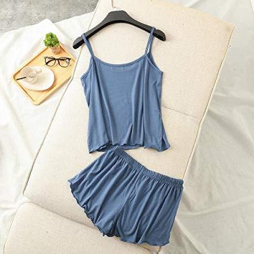 Handaxian Modal Material Damen Schlafanzug Damen Nachtwäsche Damen Schlafanzug 2 L