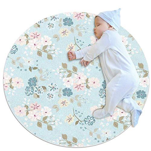 PLOKIJ Beautiful Flowers1 Tapis de jeu pour bébé Motif fleurs, multicolore 03, 100x100cm/39.4x39.4IN