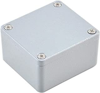 BestTong Aluminum Alloy Metal Mini Dustproof Waterproof IP66 Small Junction Box Universal Extruded Industrial Structure Electrical DIY Project Enclosure Grey 4 x 4 x 3.1 Inches(100mmx100mmx80mm)