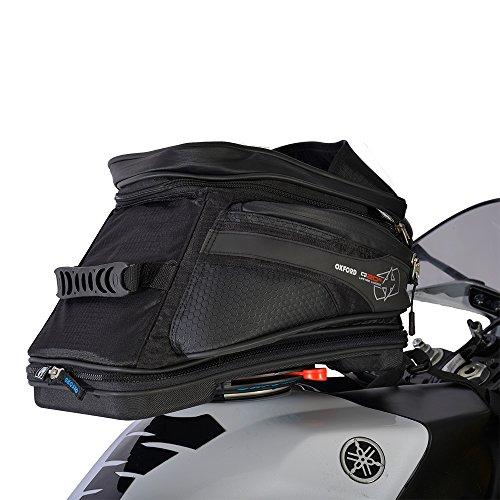 OXFORD LUGGAGE Oxford Gepäck Motorrad Q20R QR Adven Motorrad Gepäck Lebenslange Nylon Tank Tasche 20L Schwarz