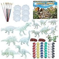 EXCEART 64個のDIYペイント恐竜キットは、子供向けの独自の恐竜アクティビティキットアートクラフト用品をペイントします