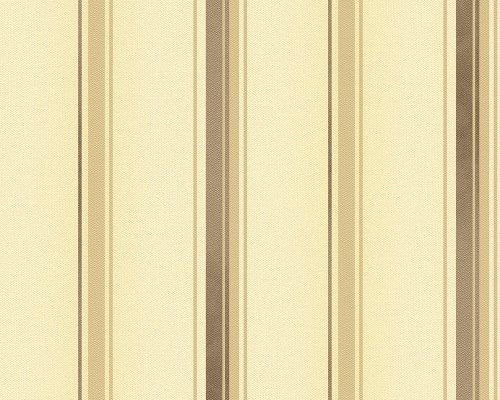Behang Felicia – 1005 x 53 cm Kleur: beige/donkerbruin/bruin/Metallic