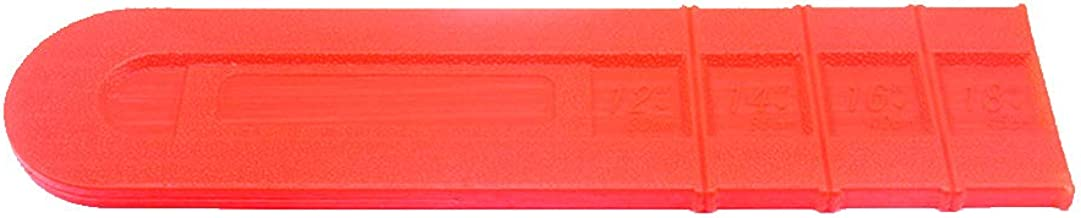 Lumpna Bar Scabbard, 18inch Plastic Durable Chainsaw Bar Blade Protective Cover Cutter Parts (18inch,Orange)