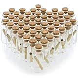 Bright Creations Message in A Bottle Small Glass Cork Bottles 48 Pack - 10ml