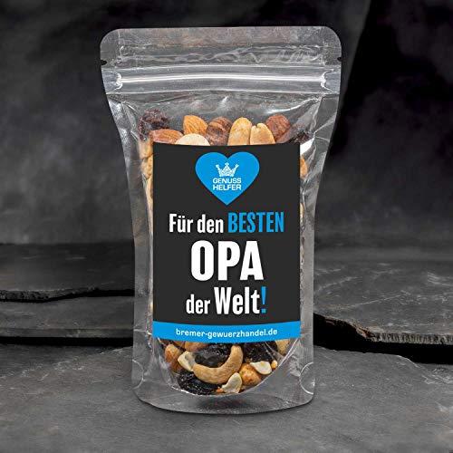 GeNUSSmischung -Für den besten Opa der Welt! - Ein schönes Knabber-Geschenk - 175 g leckere Nuss-Frucht-Mischung - ungeschwefelt
