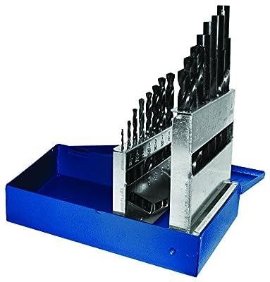 Century Drill & Tool 24035 Pro Grade Black Oxide Industrial Drill Bit Set, 15-Piece