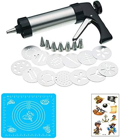 HM ZL Cookie Biscuit Press Cupcake Filler Injector Stainless Steel DIY Biscuit Cookie Pastry product image