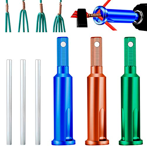 Wire Twisting Tool, Wire Stripper and Twister,4 Square 3 Way, 5 Way Twister with Extension Adapter Attachment for Power Drill Drivers (3 PCS, item A)