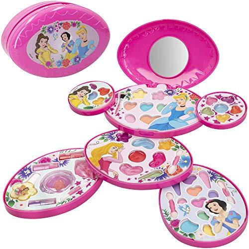 Disney - Set maquillaje infantil niñas Completo Maletin Maquillaje Princesas Disney Juego maquillaje niñas niños 5 años Set maquillaje niña Pintauñas Manicura juguete Regalos para niñas