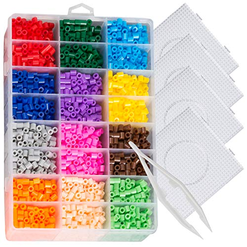 Perler Beads Pixel Art Fusion Kit - 2D Designs with Peg Boards by EVORETRO
