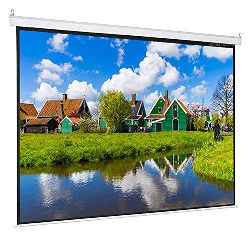 HDDFG Pantalla de proyección eléctrica motorizada 4: 3 de 60-100 Pulgadas Pantalla de proyector de Fibra de Vidrio Gris HD automática para Entretenimiento de Cine en casa (Size : 100 Inch)