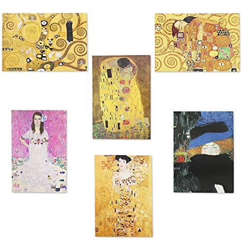 Gustav Klimt Greeting Cards with Envelopes (5 x 3.5 in, Cardstock, 36 Pack)
