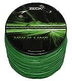Zeck Hulk Line 0,55mm 50kg 300m, geflochtene Schnur zum Welsangeln, Welsschnur, Wallerschnur, grüne Angelschnur