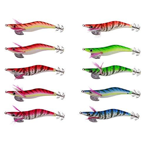 M&A Lot de 10Turluttes à bavette pour la pêche du calamar 14g