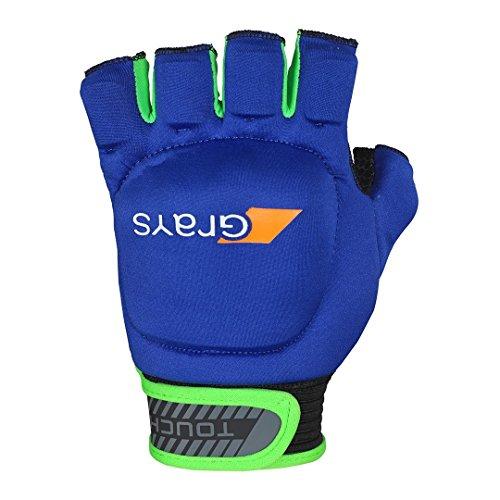 Grays Touch Hockey-Handschuh, Unisex, Erwachsene, Marineblau, große Linke Hand