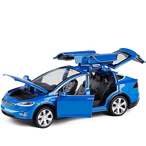 Auto modelo 1:32 Tesla Model X Model S Modelo De Coche De Aleación Diecast Vehículos De Juguete Coches De Juguete Chico Juguetes Para Niños Regalos De Cumpleaños Juguete
