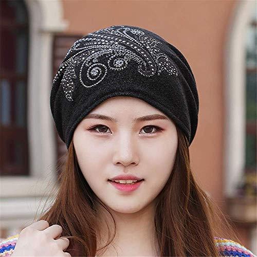 MZHAOANHE Sombrero de Mujer Otoño Invierno Big Turided Cap Turbante Casco de...