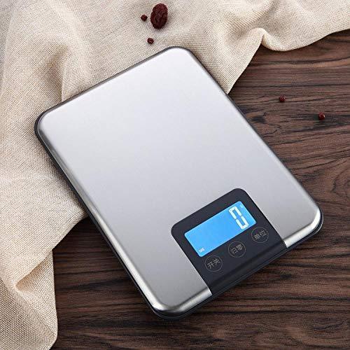Precisie keukenweegschaal elektronische weegschaal Engels 5kg / 1g bakweegschaal huishoudelijk voedsel elektronische weegschaal roestvrijstalen tafelweegschaal-5kg/1g