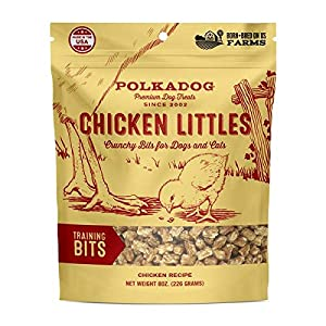 Polkadog Chicken Littles Training Bits Dog Treats, Cat Snacks – All-Natural, Savory Pet Treat for Puppies, Kittens – Fresh Chicken Snack for Dogs, Cats – Bite-Sized, Crunchy – 8 oz.