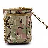 XIOFYA 1pc Molle System Hunting Tactical Magazine Dump Drop Pouch Recycle Pack de la Cintura Bolsas de municiones Airsoft Military Accessories Bag (Color : MC)