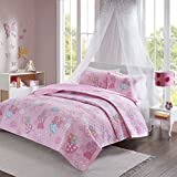 Comfort Spaces Twin Quilt Set Girls - Elfie Twin Bedspread 2 Piece -...