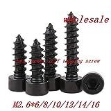 100 Piezas M4*12 XFentech Tornillos de Met/álica Tornillos Autorroscante con Arandela Acero al Carbono Tornillos de Cabeza de Cruz 100//500 Piezas
