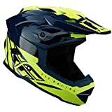 FLY Racing - Casco Fly Default para Adulto, Unisex, Teal/Amarillo neón, Talla XS