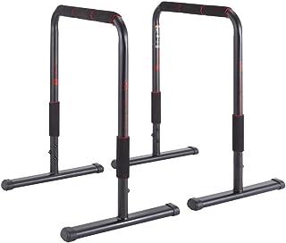 Fitness Home Parallel Bars Horizontal Bar Workout Dip Bar Dip Station Push Up Bars Equalizer Training Equipment (Color : Black, Size : 65x47x78cm)