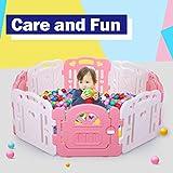 Baby Playpen Large Toddler Pen Infant Play Yard 8 Panel Kids Safe Activity