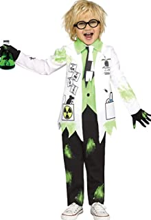 Boy's Mad Scientist Outfit Funny Theme Party Toddler Halloween Costume