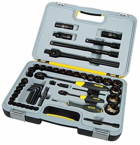 Preisvergleich Produktbild Stanley FatMax Micro Tough Steckschlüssel-Set 60-tlg (Umschaltknarre,  1 / 2 Zoll Steckschlüssel,  Bits,  Stiftschlüssel) 1-94-663