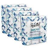 Marque Amazon - Presto! Papier toilette 3 épaisseurs– MATELASSÉ - Lot de 36 (4 x 9 x 200 feuilles) - Motif : Gemme