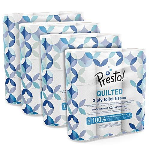 Marque Amazon - Presto! Papier toilette 3 épaisseurs– MATELA
