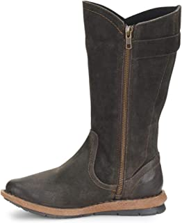 Womens Tonic Leather Round Toe Mid-Calf Cold Weather, Dk Grey, Size 11.0