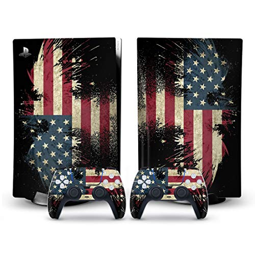 Mmoptop Art Designer PS5 Skin for Playstation 5 Disc Edition with Console and Dualsense Controller Full Set