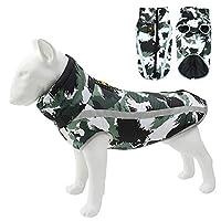 Yotmy犬ジャケット大型犬犬のコート防水反射暖かい冬服ラブラドールオーバーオールチワワパグ服 (3XL,HBTY)