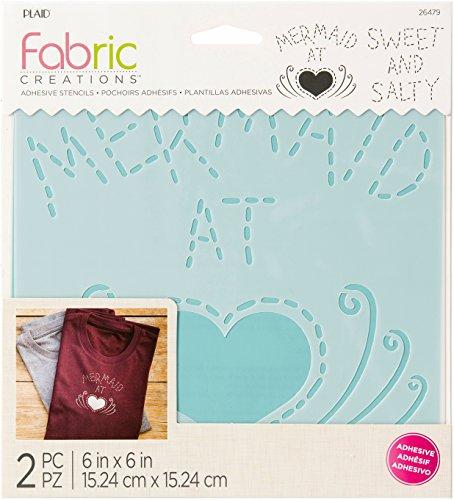 Fabric Creations 26393 selbstklebende Boho-Schablone, 7,6 cm, transparent Mermaid 6