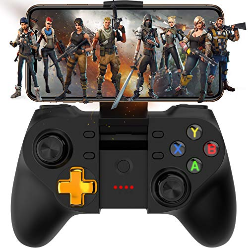 Android Game Controller, Megadream Wireless Key Mapping Gamepad Joystick Perfect for PUBG & COD, Compatible for Android Samsung Galaxy, LG, HTC, Huawei, Xiaomi Other Phone & Tablet (Not Support iOS)