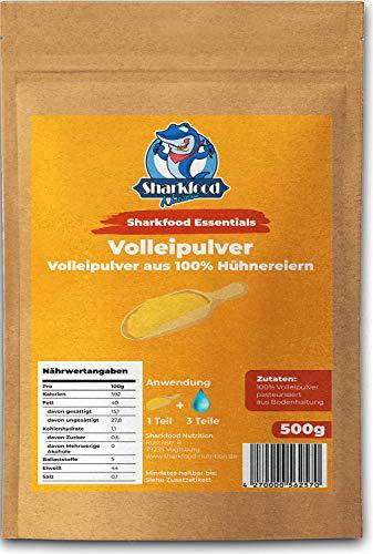 Sharkfood Volleipulver - Ei-Pulver aus frischem Hühnervollei - ideal zum Backen & Kochen von diversen Rezepten, beliebt für Rührei - lange haltbar, hohe biologische Wertigkeit - 1 x 500 g