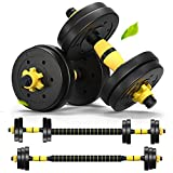 Weights Dumbbells Set Adjustable Dumbells Barbell Set of 2, Weights for Exercises 20lb/30lb/40lb (20lb (10lb x 2))