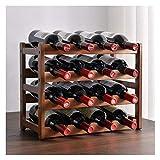 Gabinete de vino de celosía, estante de vino, decoración, estante de vino, estante de vino de bambú, bastidor de exhibición, hogar (Color : C)